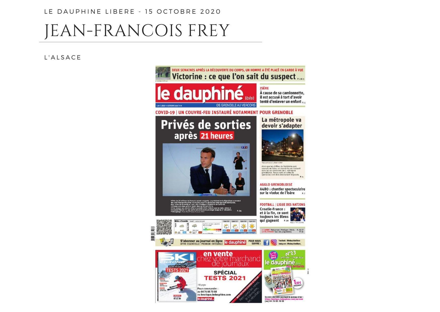 La Dauphiné Libéré - 15 octobre 2020