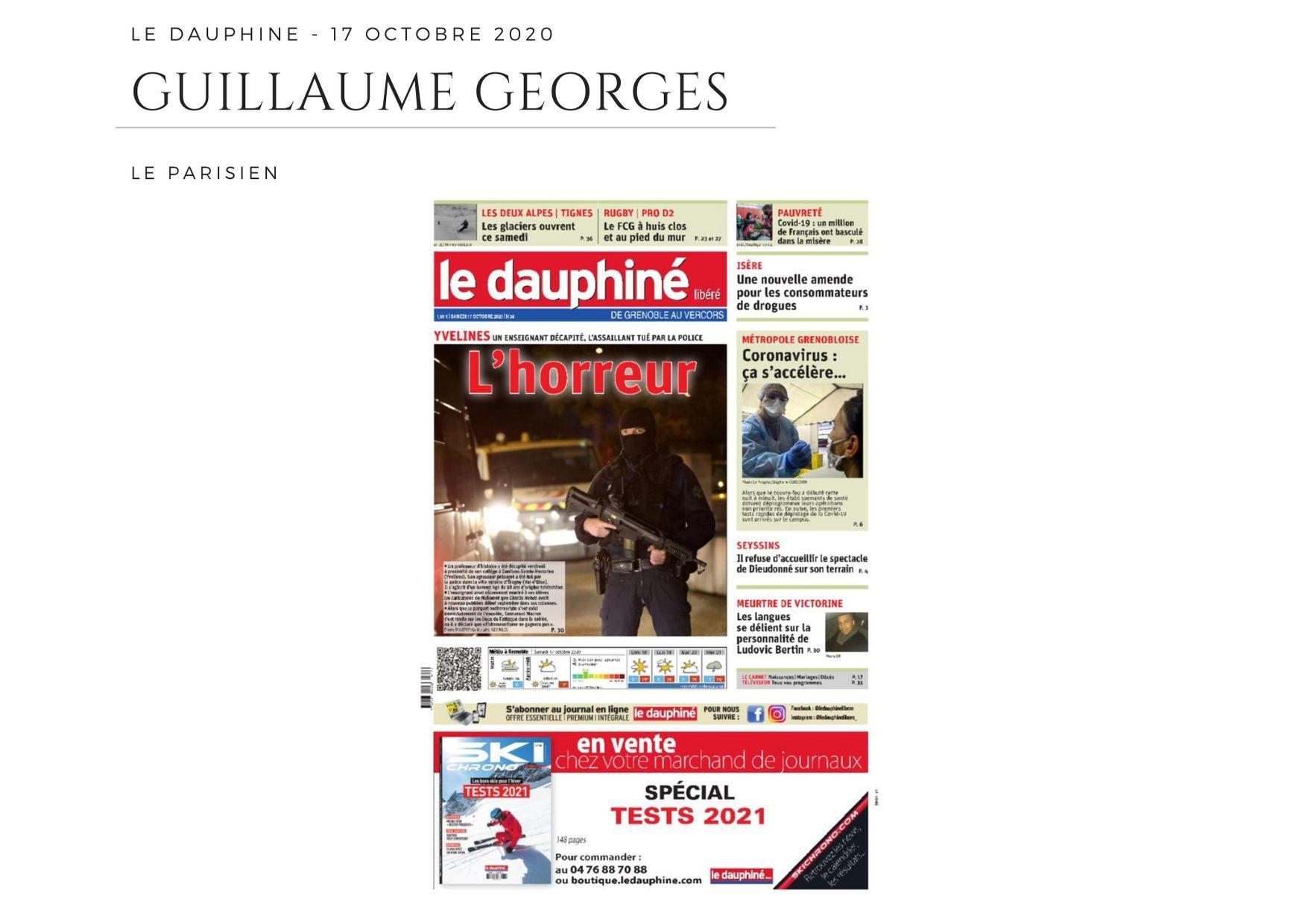 Le Dauphiné - 17 octobre 2020