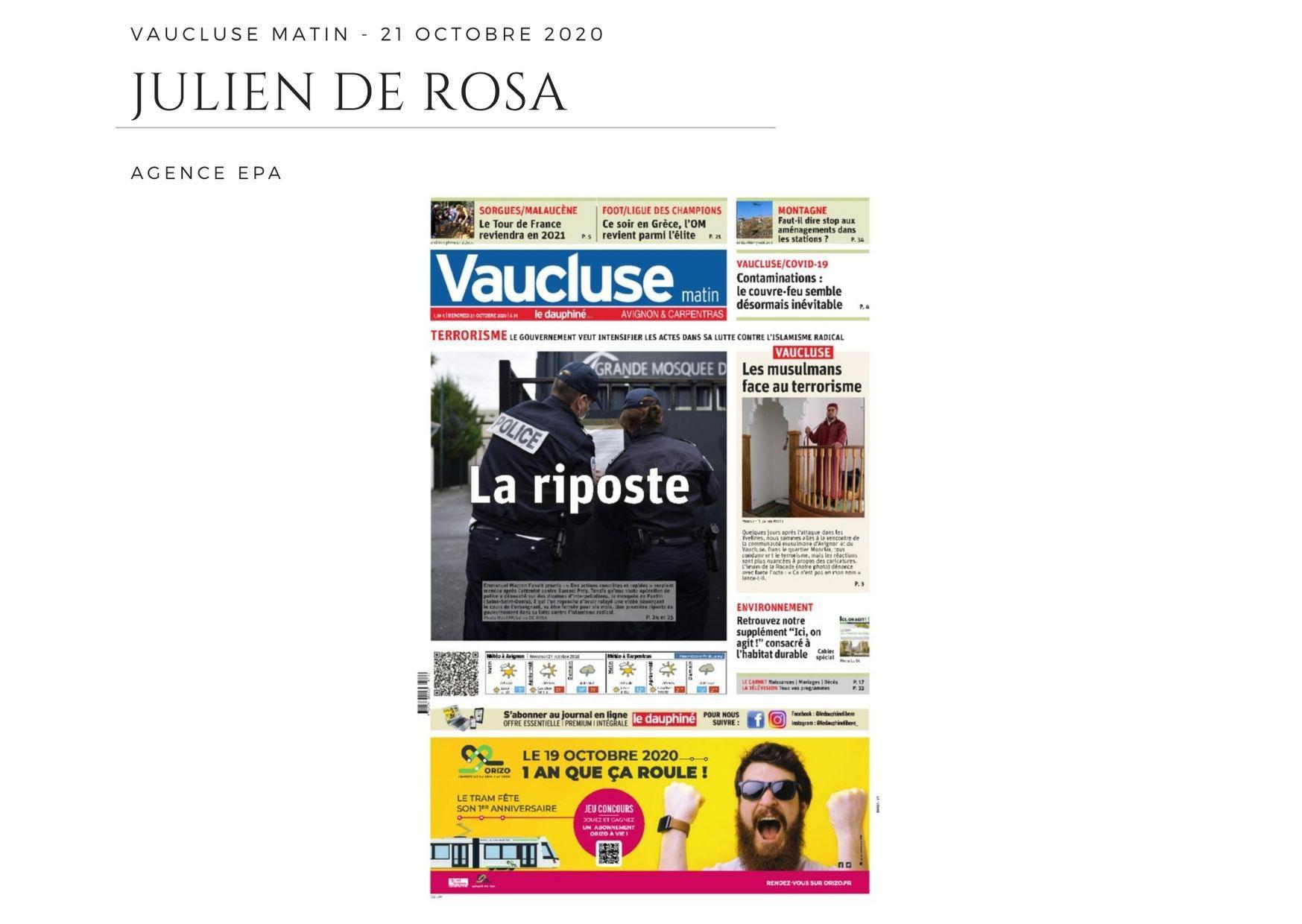 Vaucluse Matin - 21 octobre 2020
