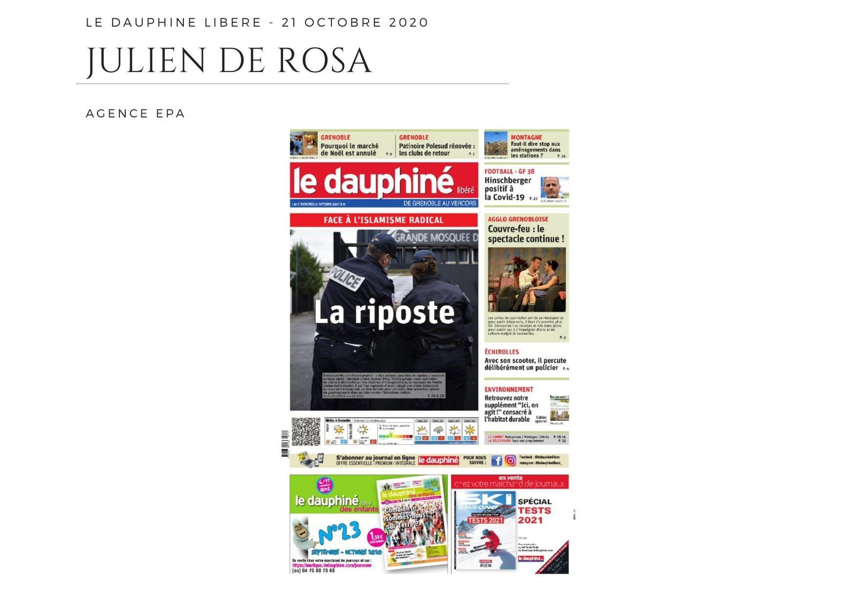 Le Dauphiné Libéré - 21 octobre 2020