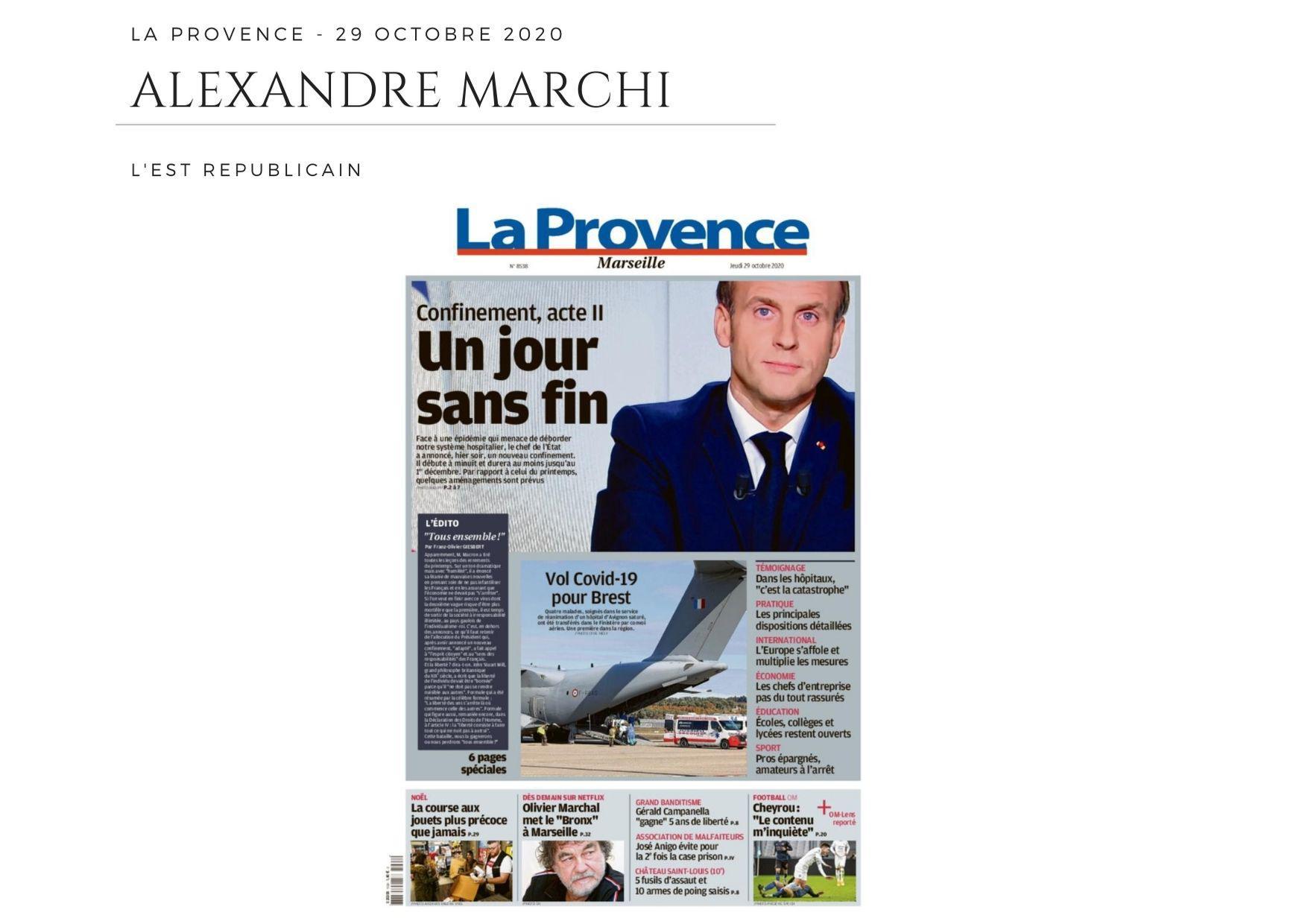 La Provence - 29 octobre 2020