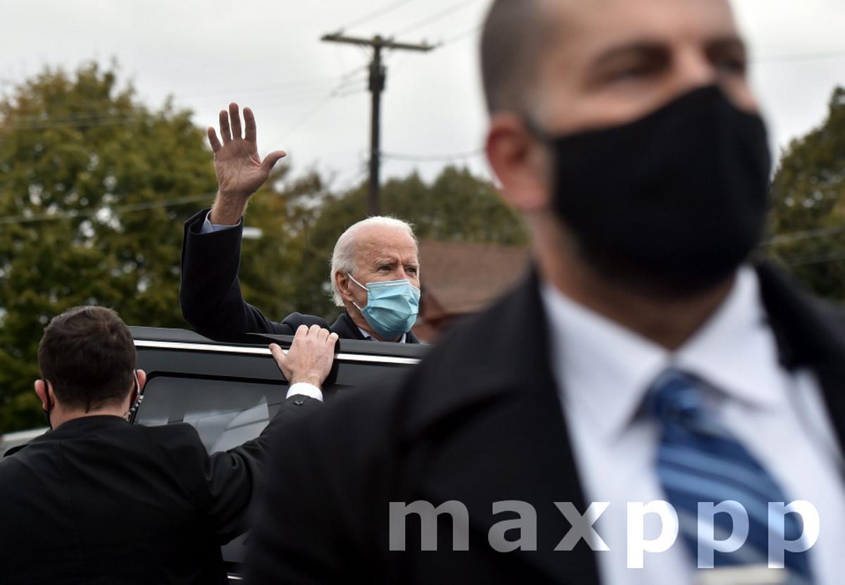 Biden in Scranton, US - 03 Nov 2020