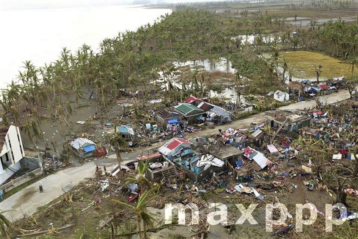 Typhoon Goni aftermath in the Philippines