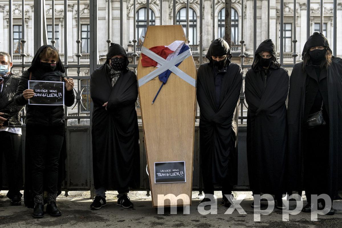 Manifestation des commerçants à Lyon