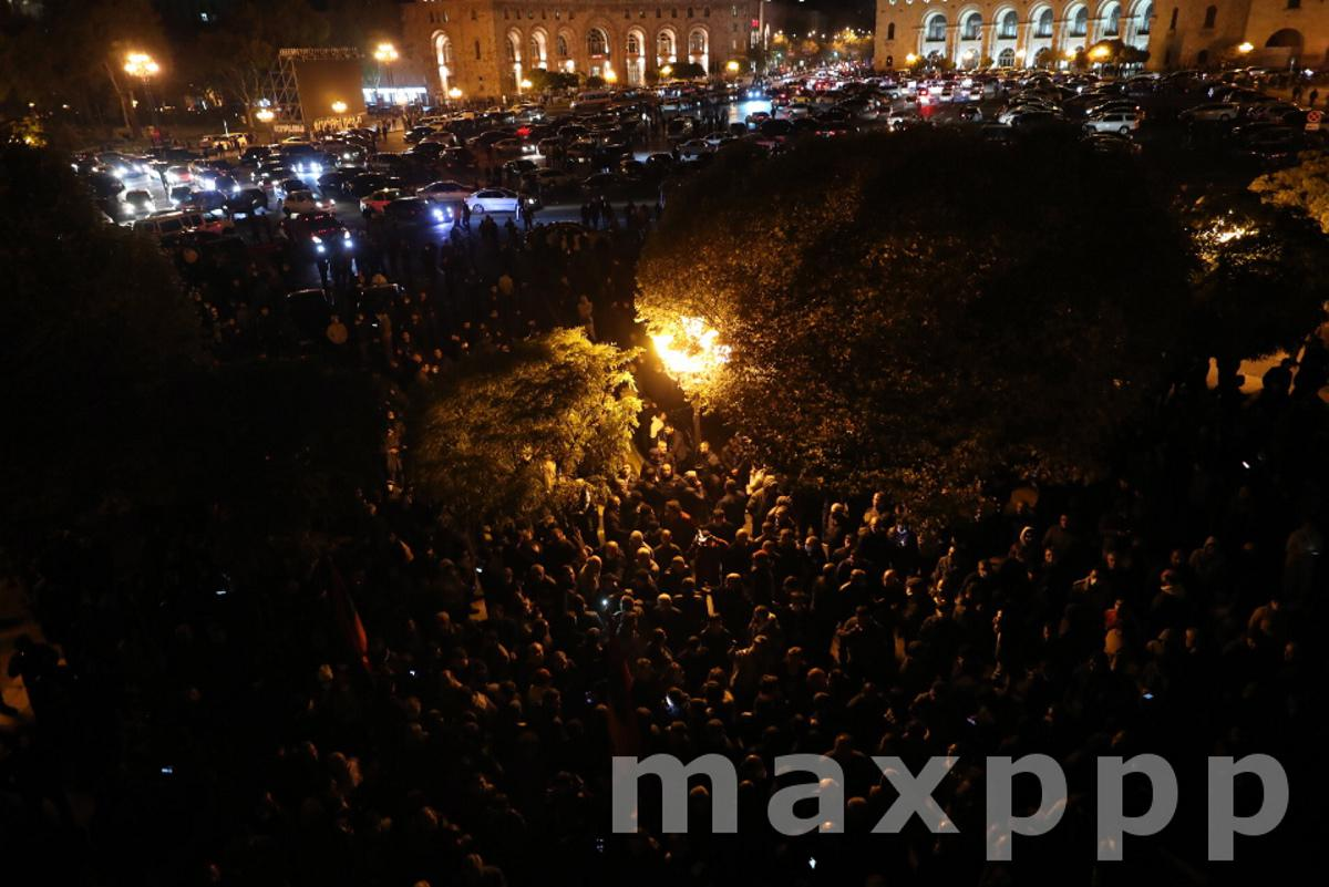 Protests in Yerevan against end of war in the Nagorno-Karabakh region