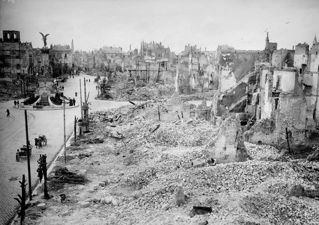 Première guerre mondiale - ruines et pillages