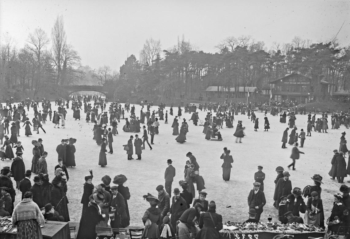 Hiver à Paris en 1908