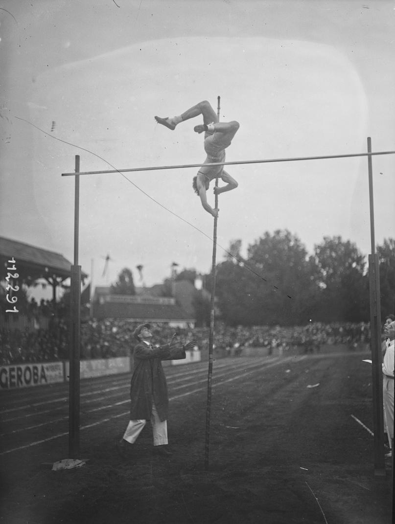 1926, match France-Allemagne-Suisse d'athlétisme