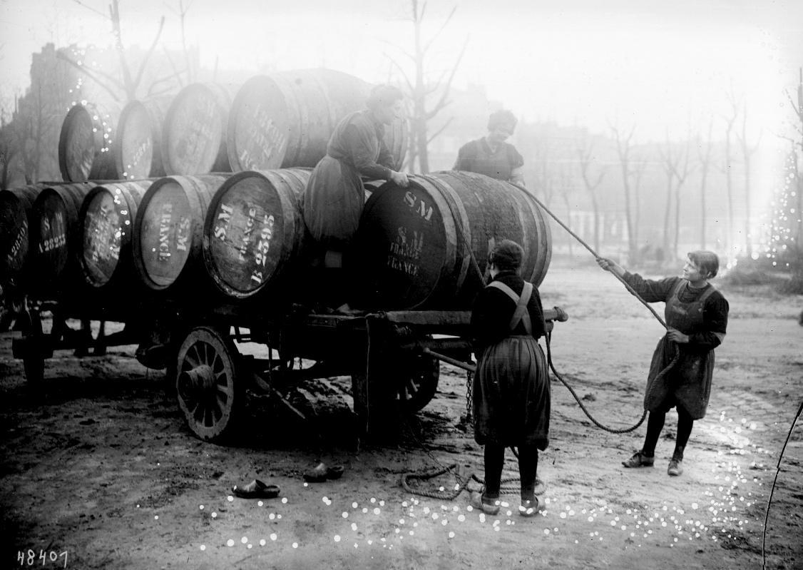 Fûts de vin à Bordeaux