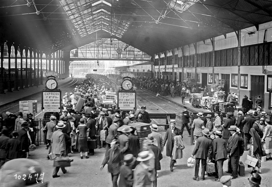 Gare Saint Lazare, 1925