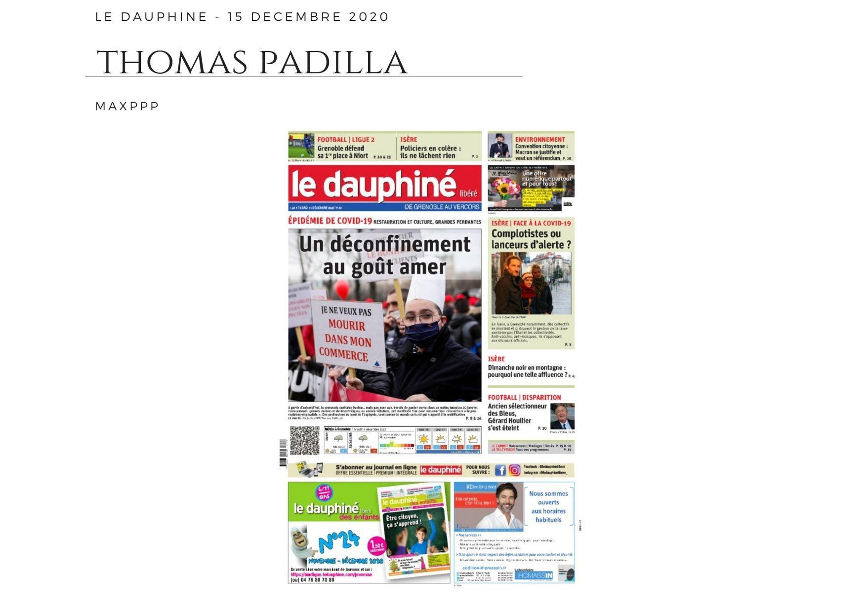 Le Dauphiné Libéré - 15 décembre 2020