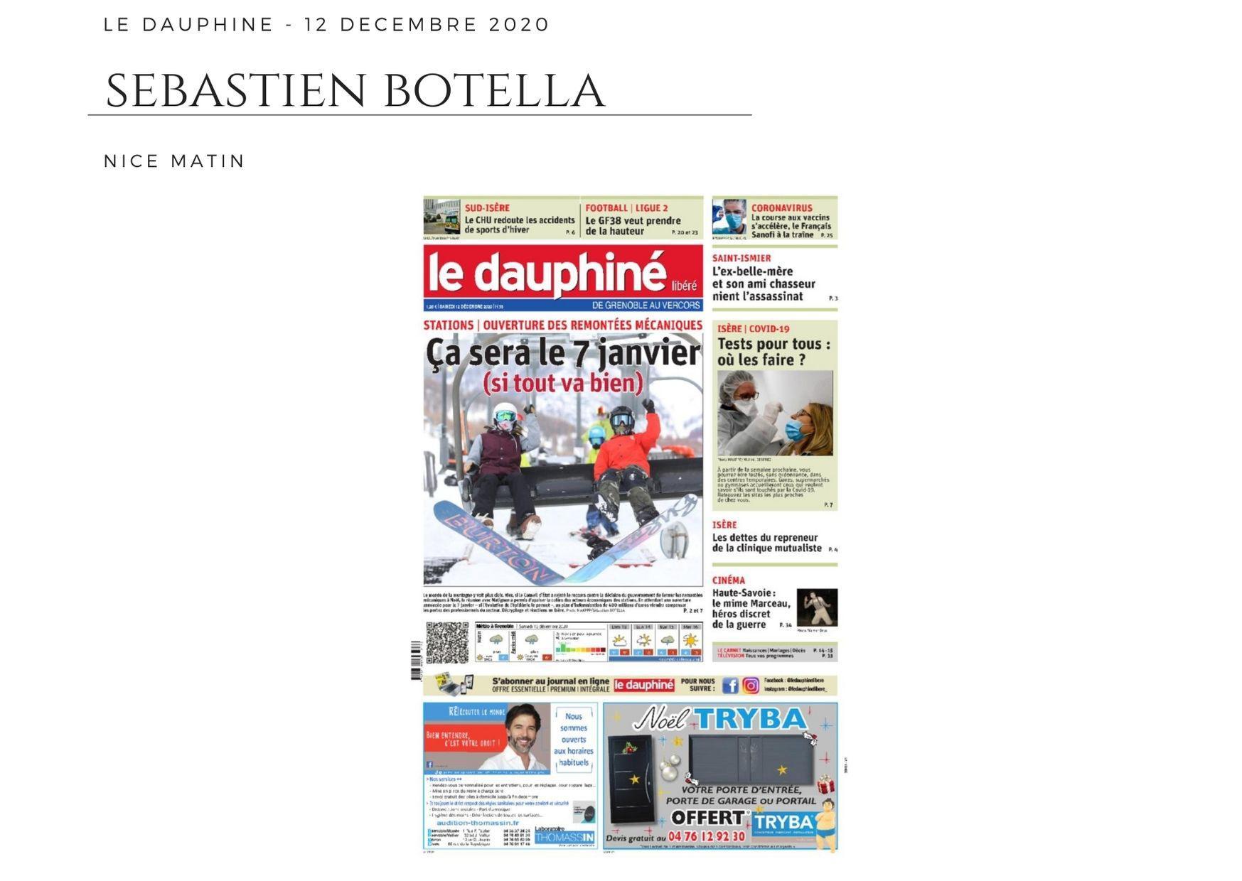 Le Dauphiné Libéré - 12 décembre 2020