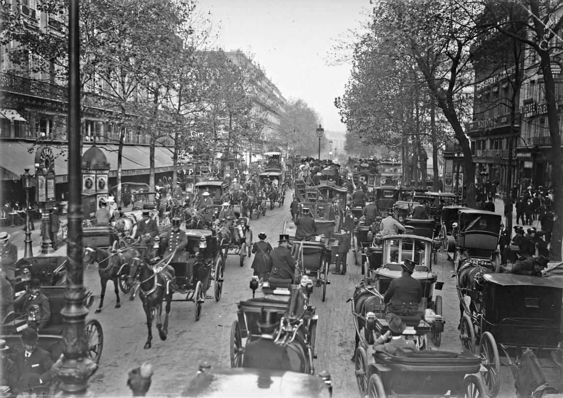 Paris -  Boulevard des Capucine - Paysages urbains -1870-1913