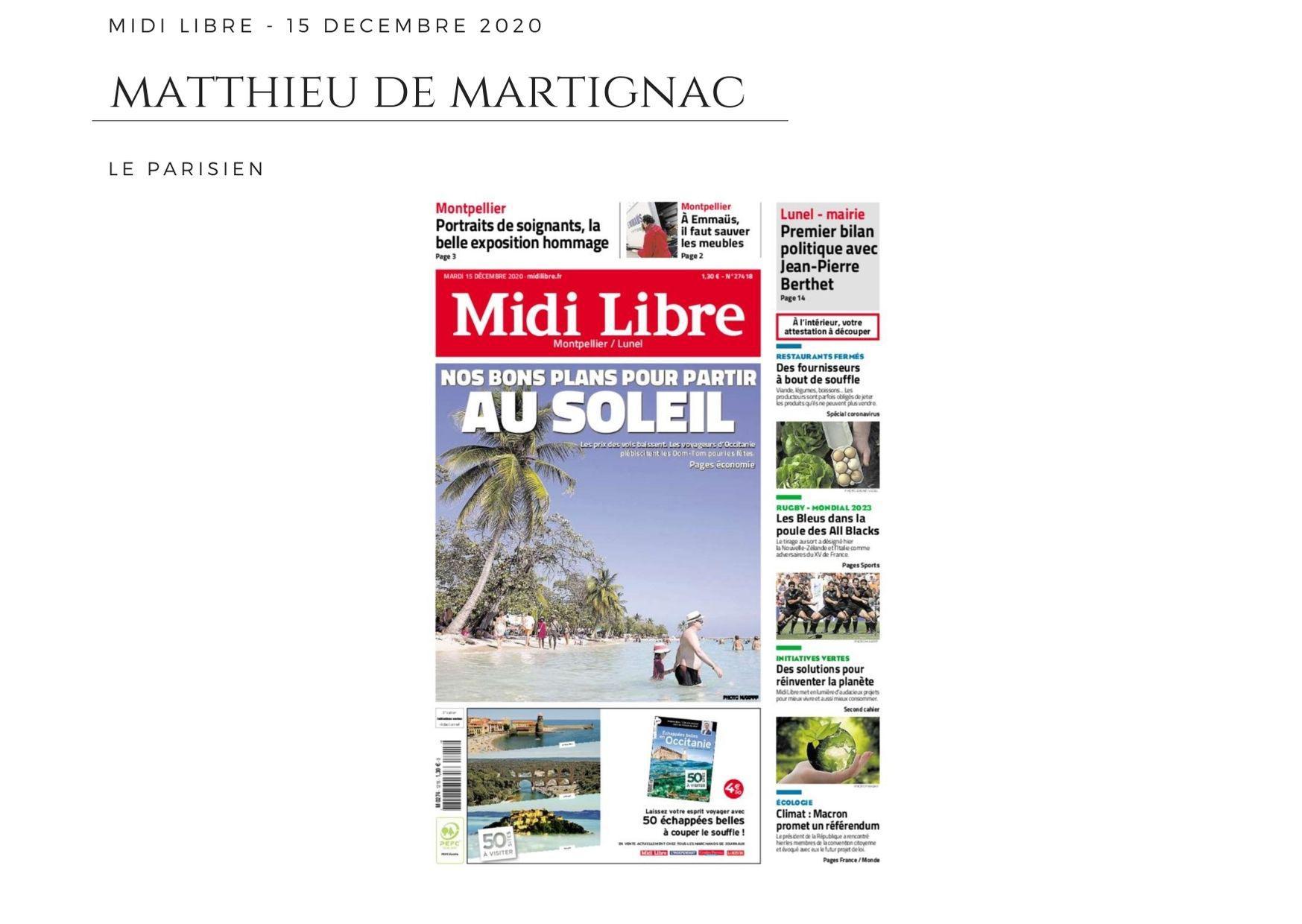 Midi Libre - 15 décembre 2020
