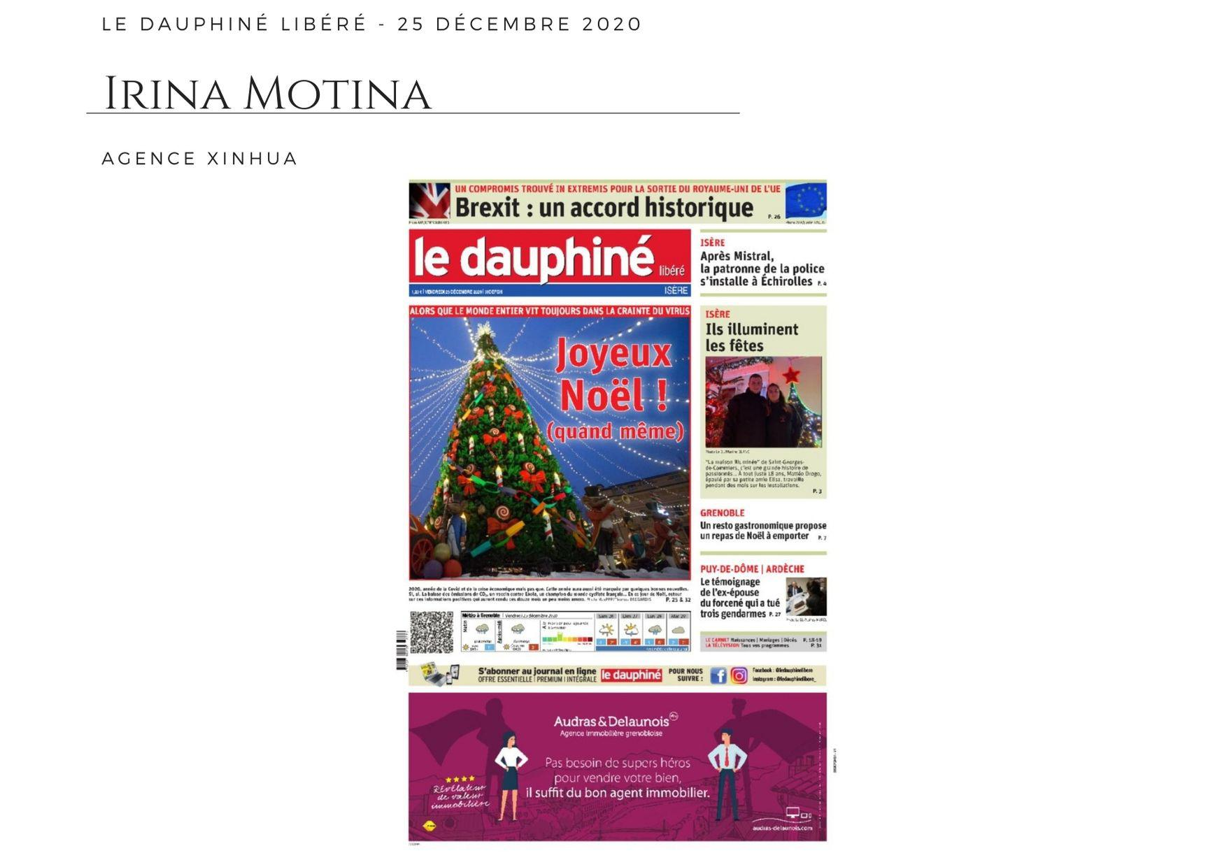 Le Dauphiné Libéré - 25 décembre 2020