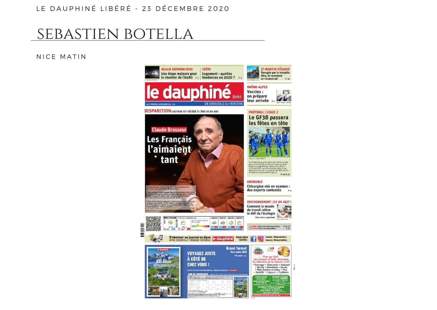 Le Dauphiné Libéré - 23 décembre 2020