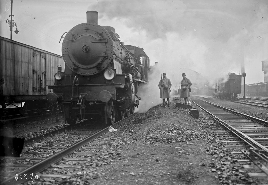 départ du 1er train piloté par les cheminots français