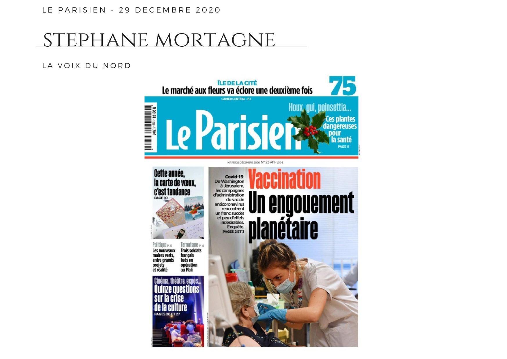 Le Parisien - 29 décembre 2020