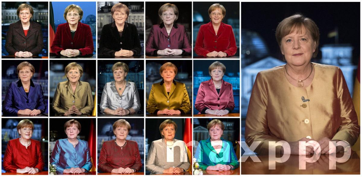 Combo of Angela Merkel New Year's Speeches