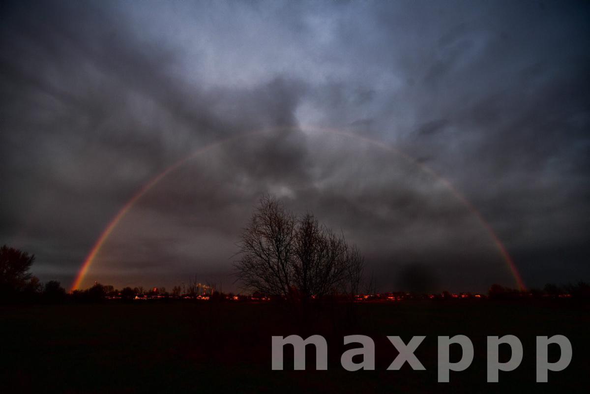 Rainbow above Debrecen