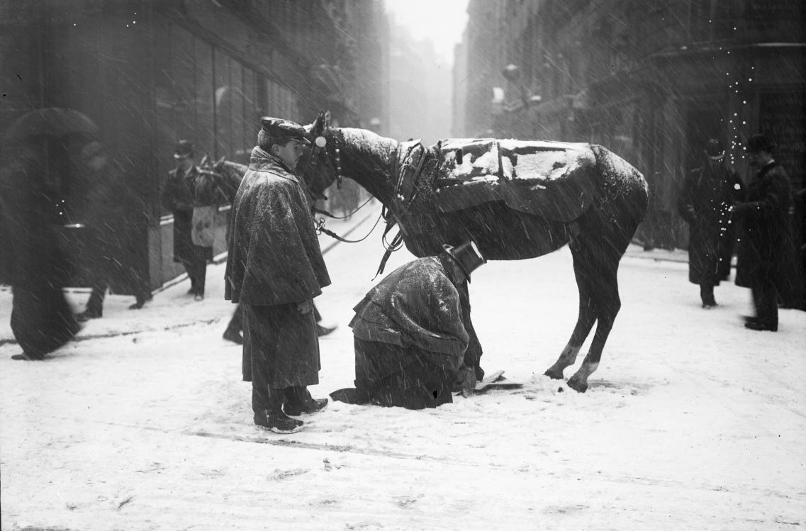 Neige à Paris en 1908