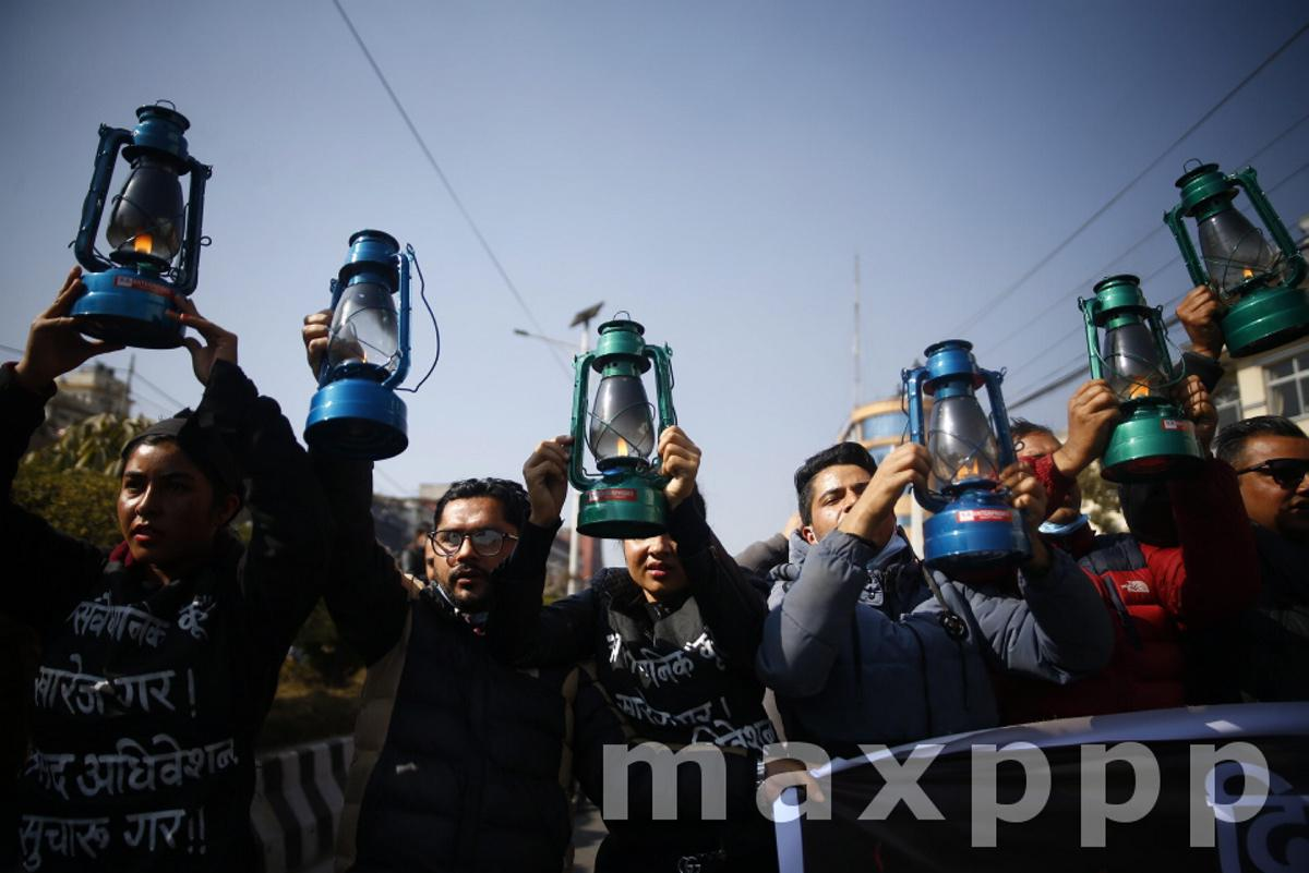 Lantern Protest in Nepal