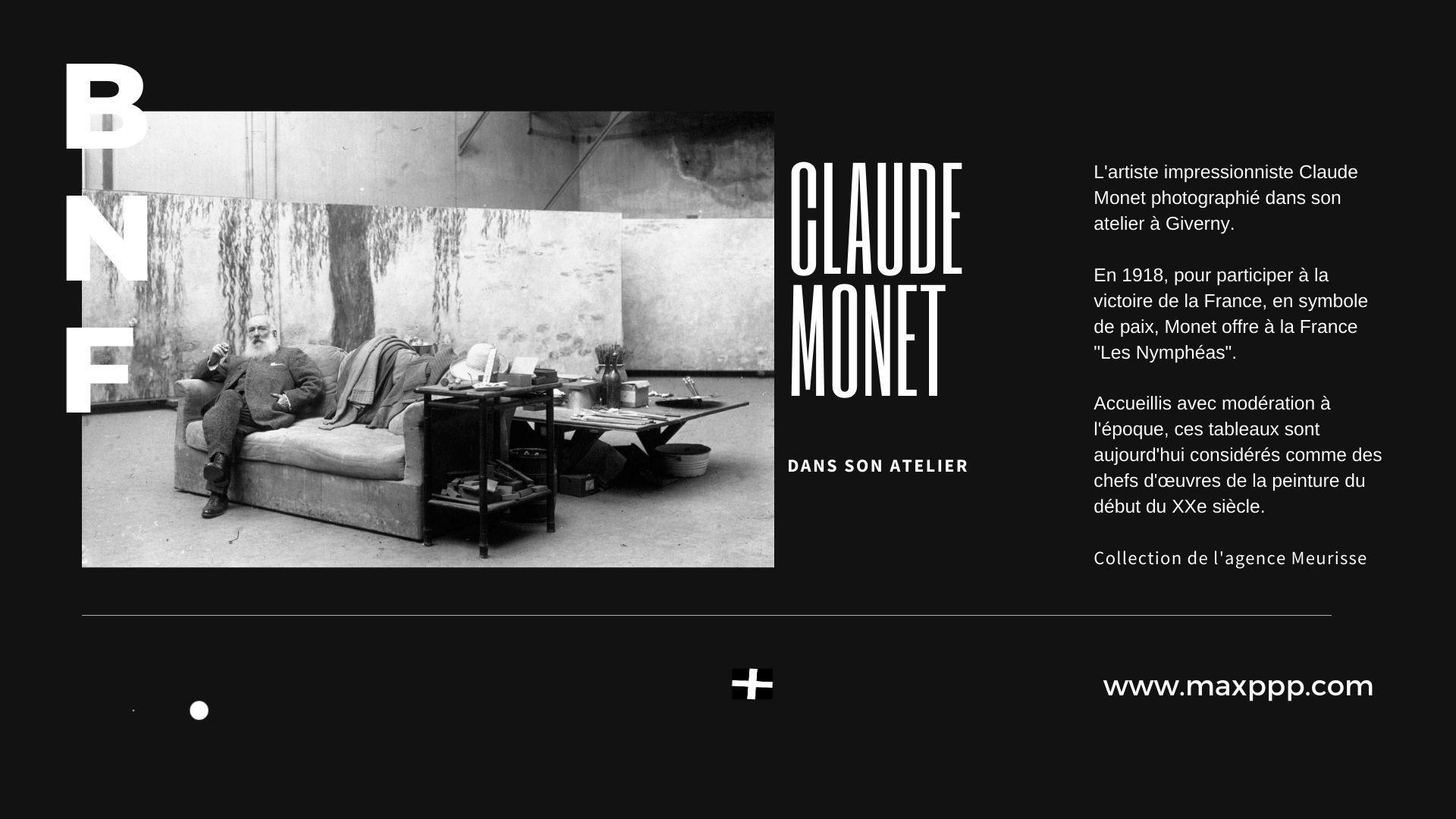 Claude Monet dans son atelier
