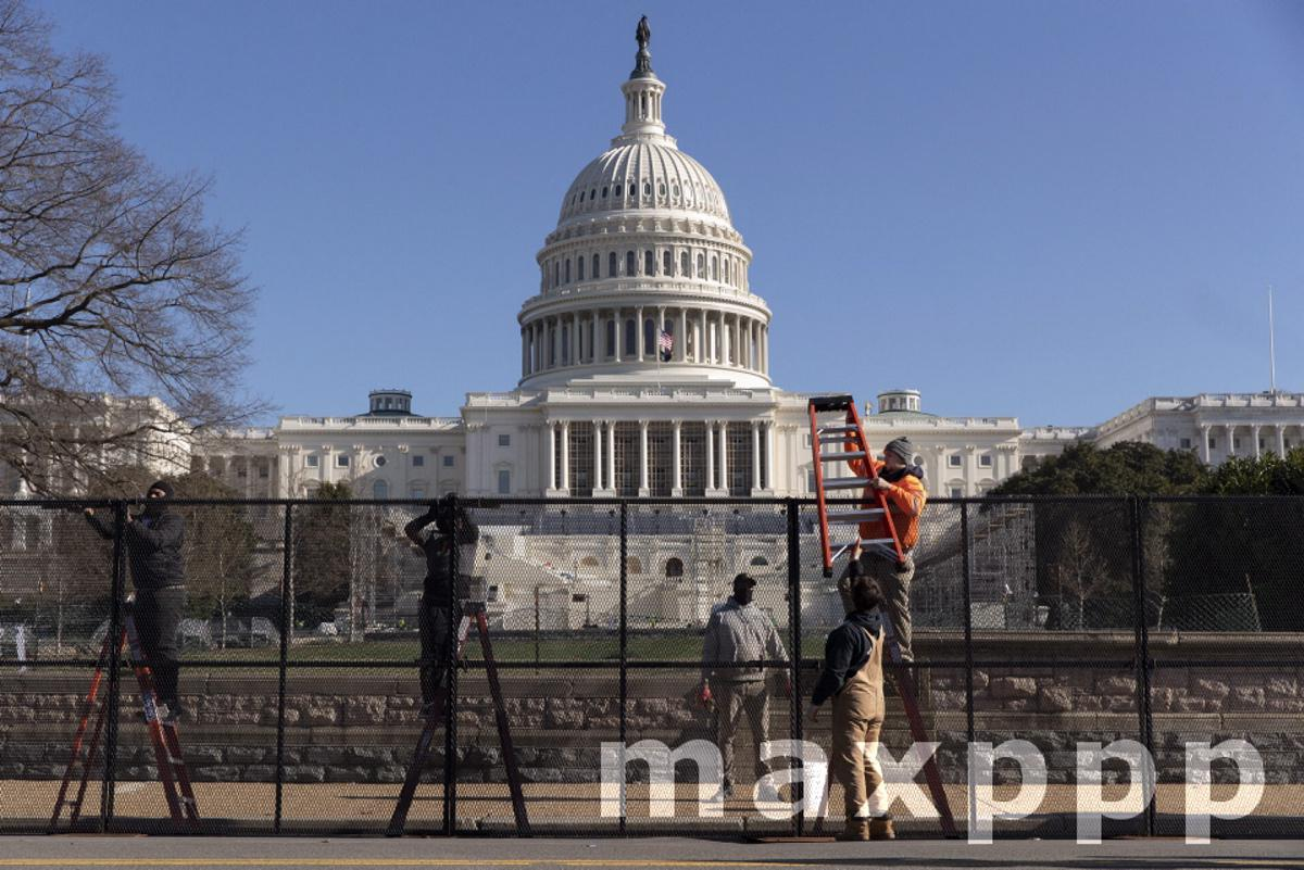 Security aftermath the day after a mob of Trump supporters rioted at the US Capitol