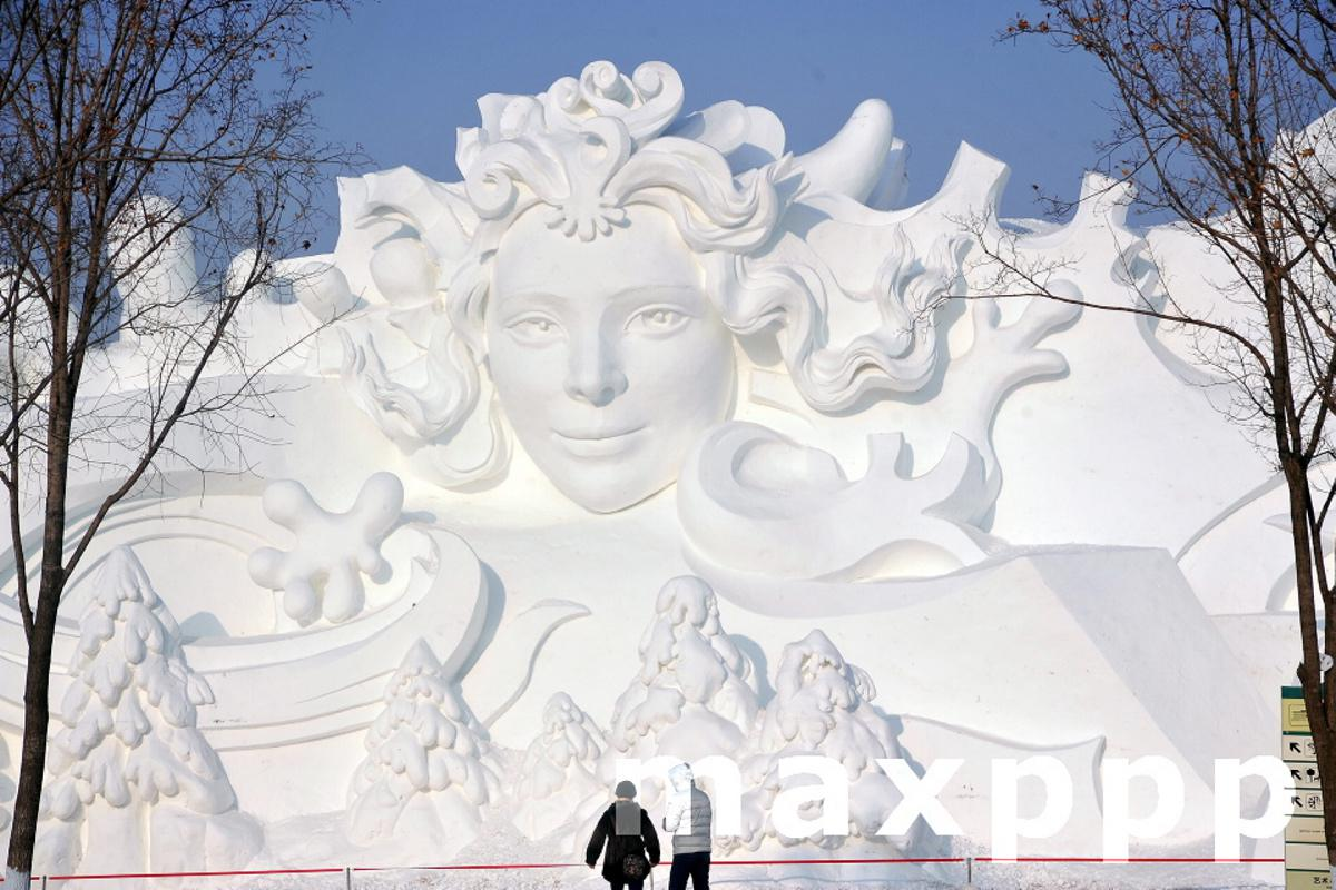 33rd Harbin Sun Island International Snow Sculpture Art Expo Opens To The Public