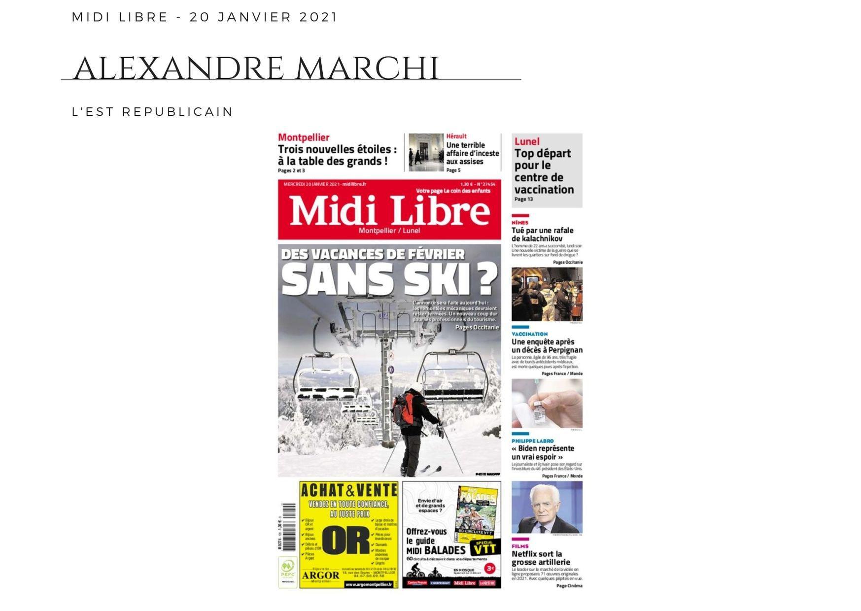Midi Libre - 20 janvier 2021