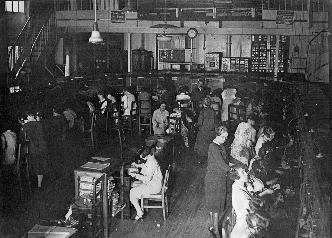 Paris, Central téléphonique en 1928