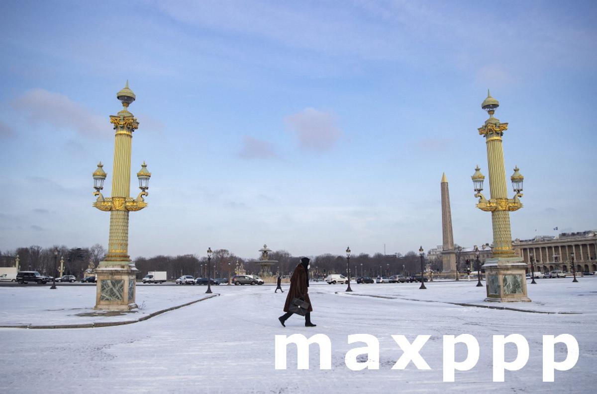 Paris blanketed in snow as winter chill sweeps across northern France