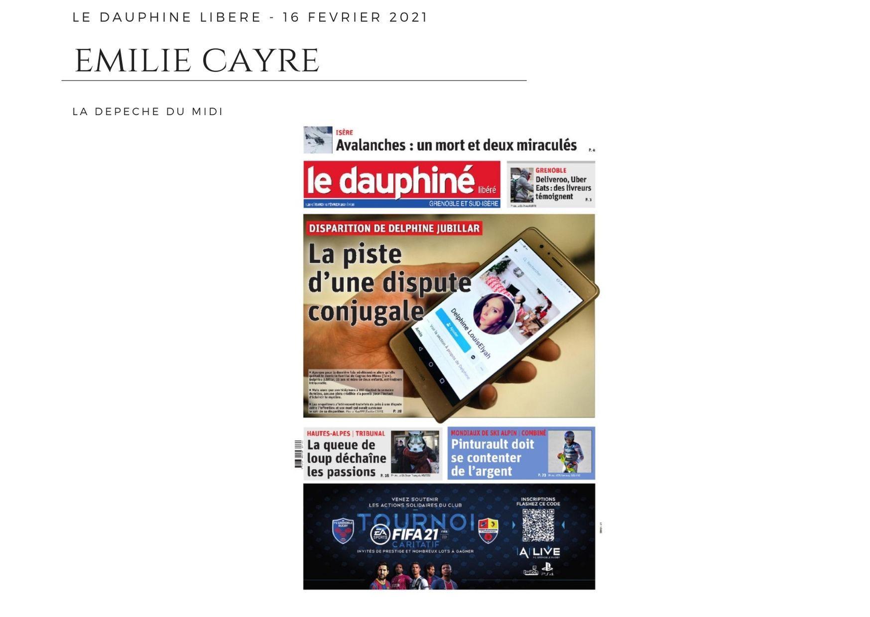 Le Dauphiné Libéré - 16 février 2021