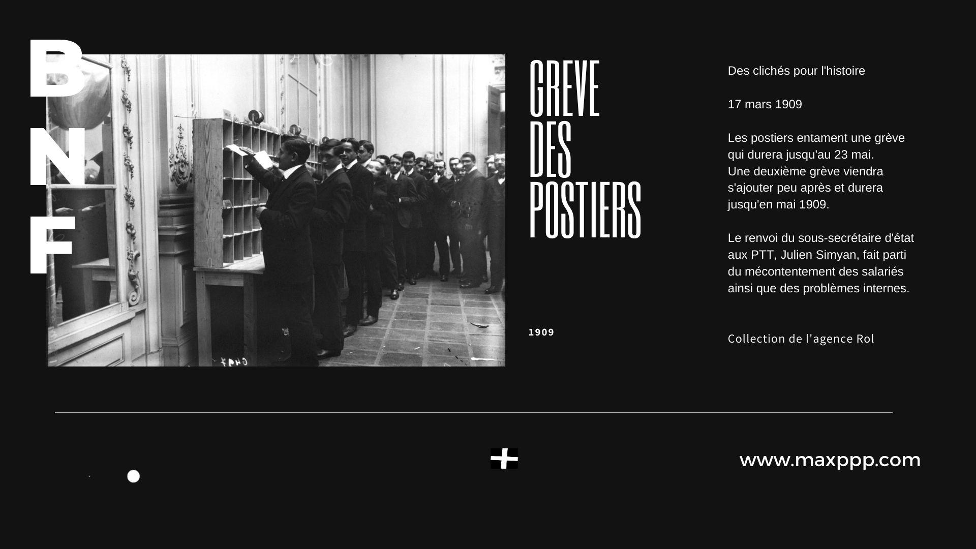 1909 - Grève des postiers