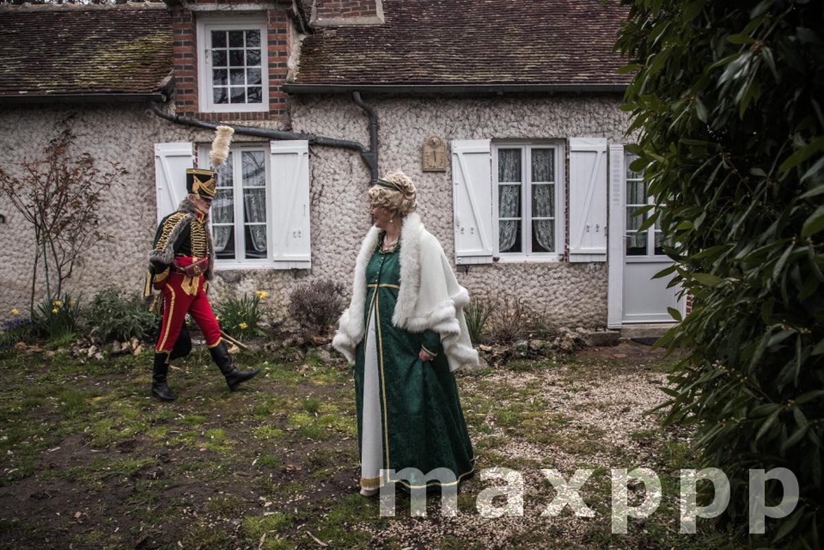 French reenactors prepare to commemorate 200th anniversary of emperor's death