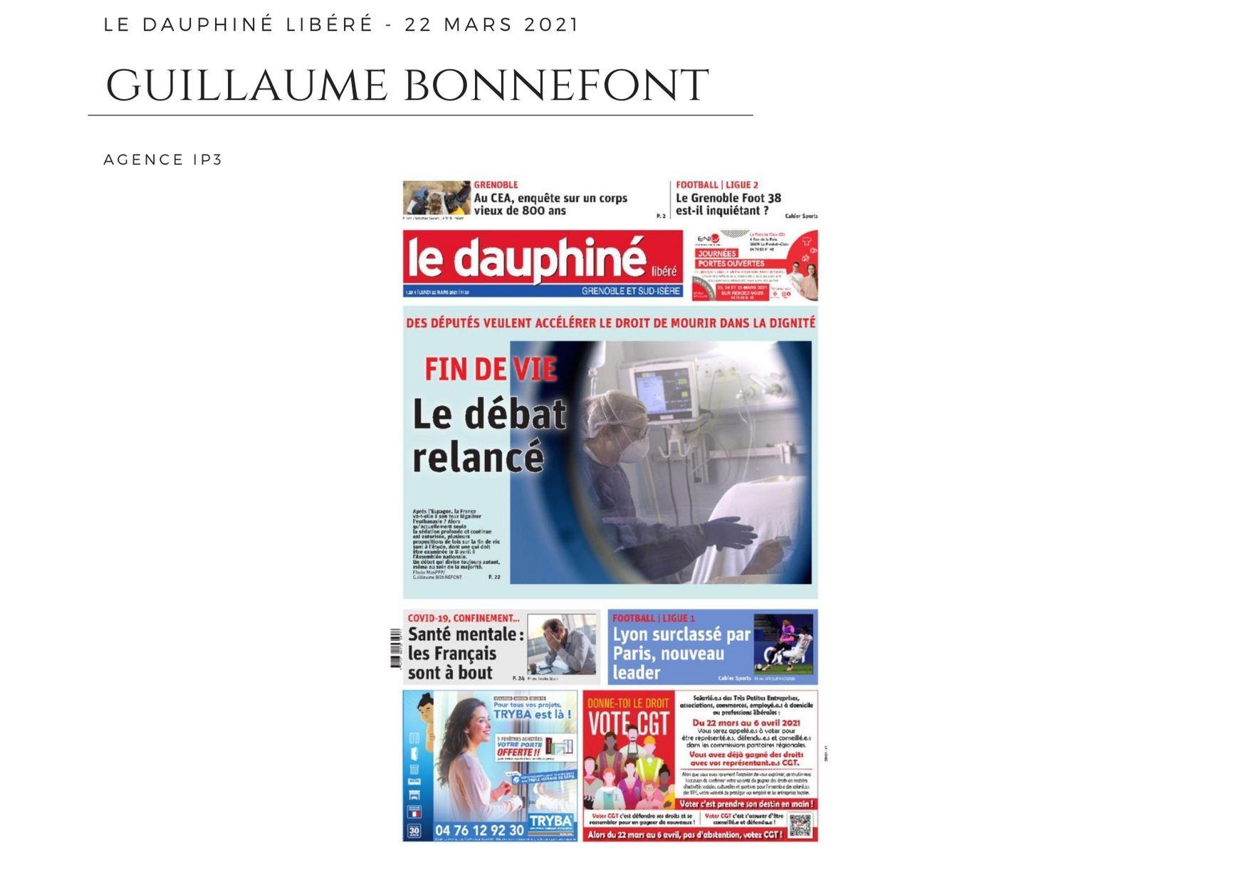 Le Dauphiné Libéré - 22 mars 2021
