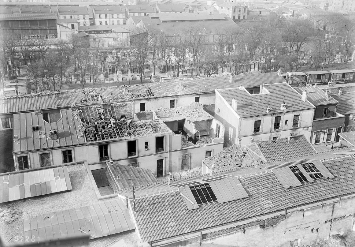 Première guerre mondiale - tirs sur Paris 1918