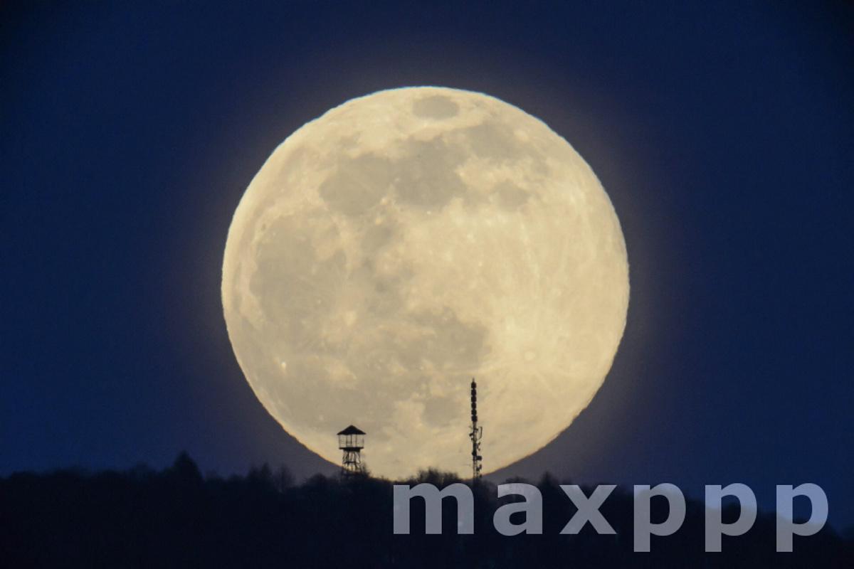 Full Moon Over Karancs Hills