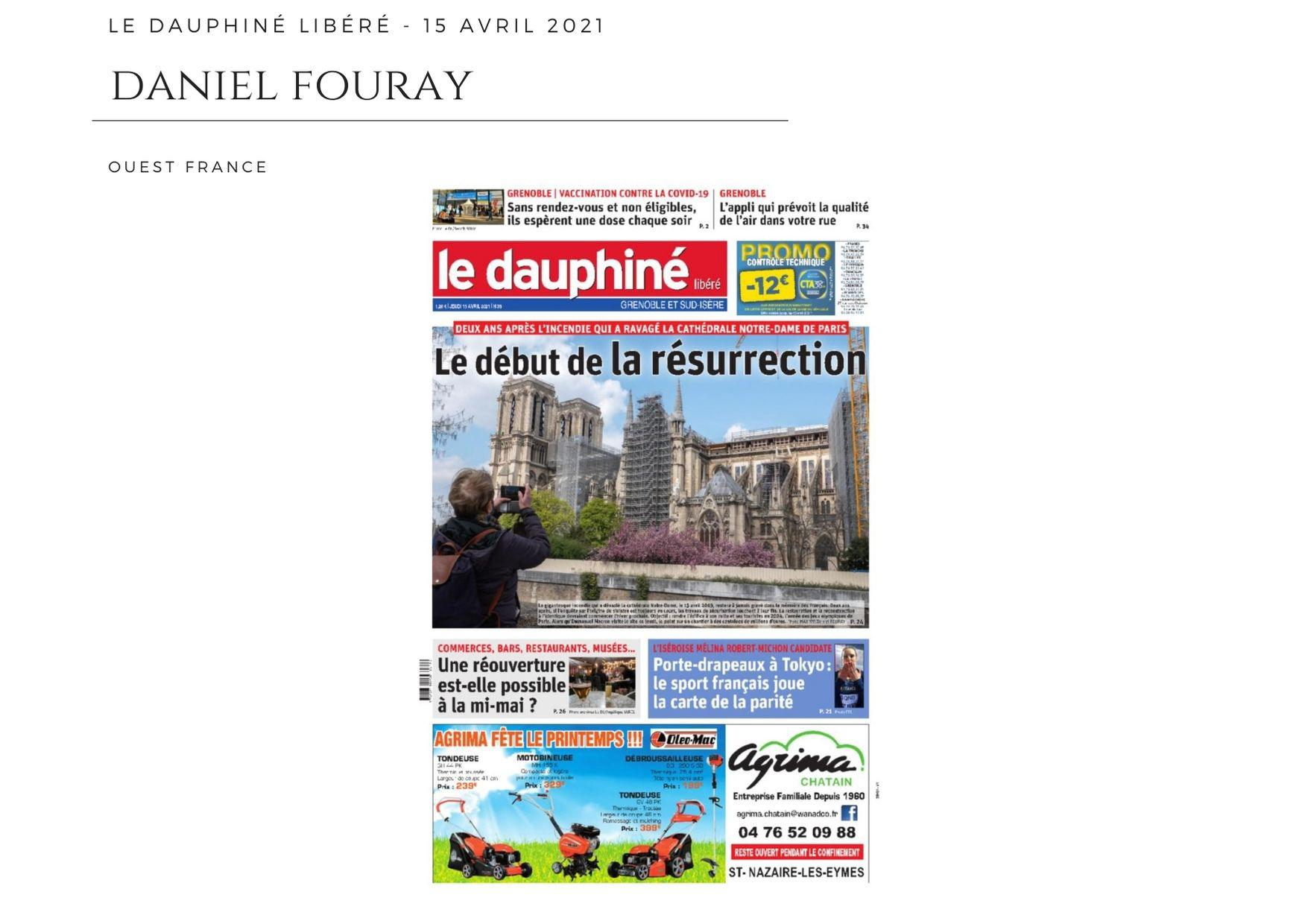 Le Dauphiné Libéré - 15 avril 2021