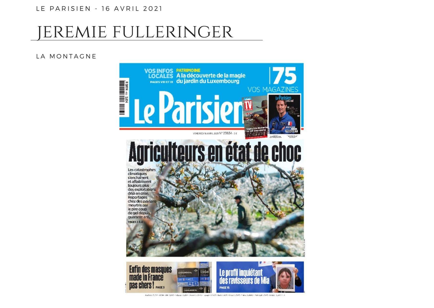 Le Parisien - 16 avril 2021