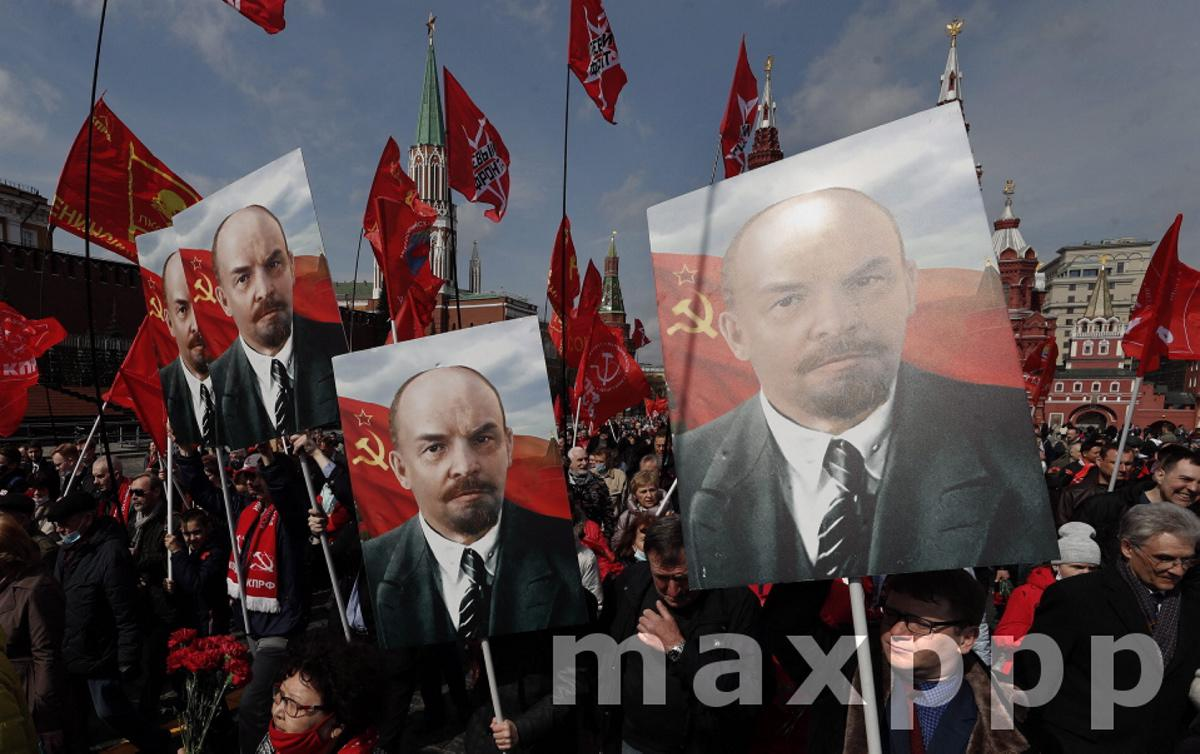 Communists celebrate Lenin's birthday