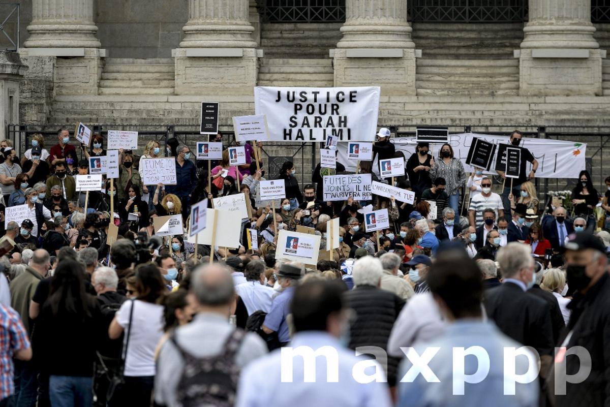 Rassemblement en hommage à Sarah Halimi à Lyon le 25 avril 2020