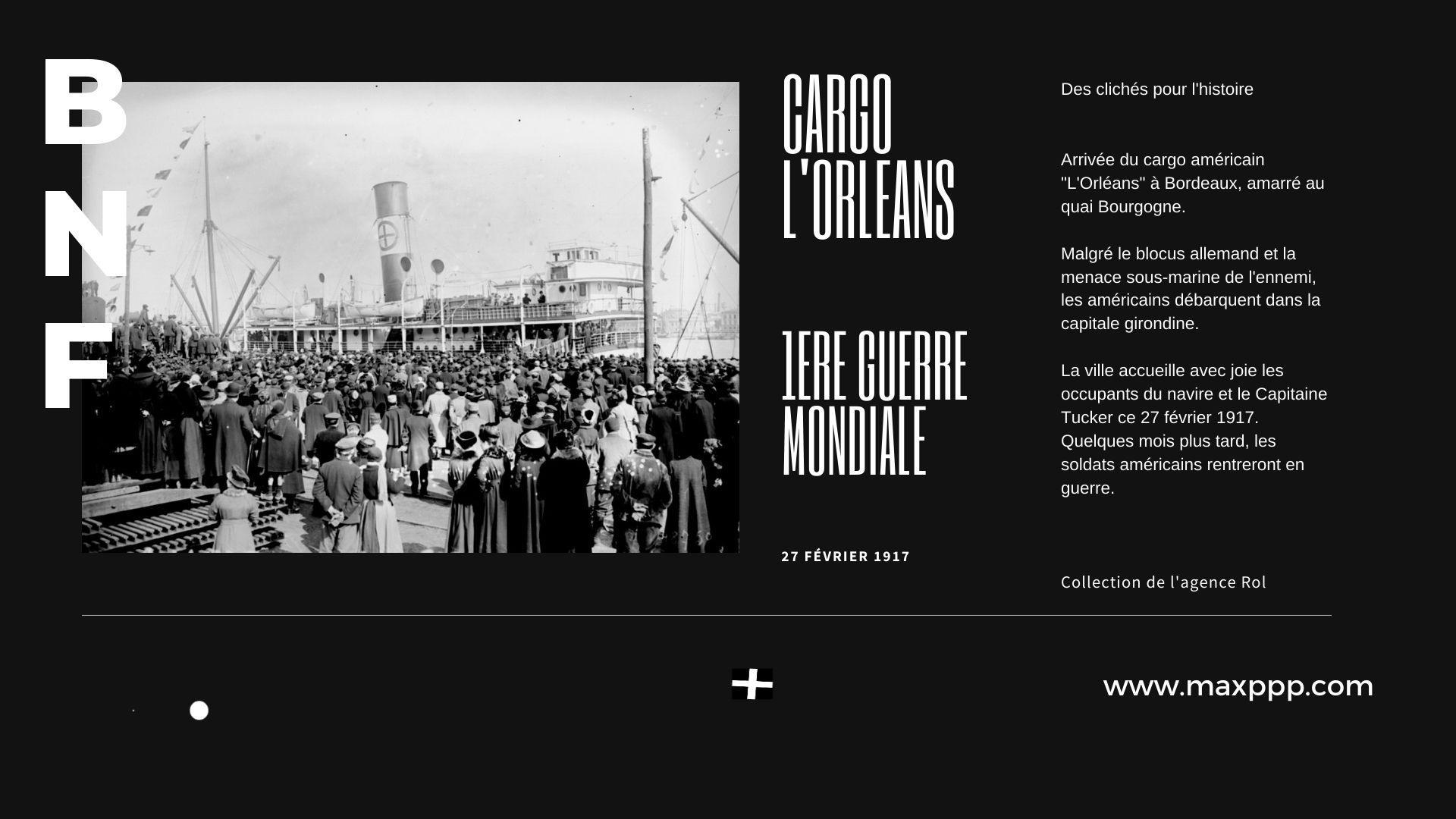 Le cargo Orléans arrive à Bordeaux