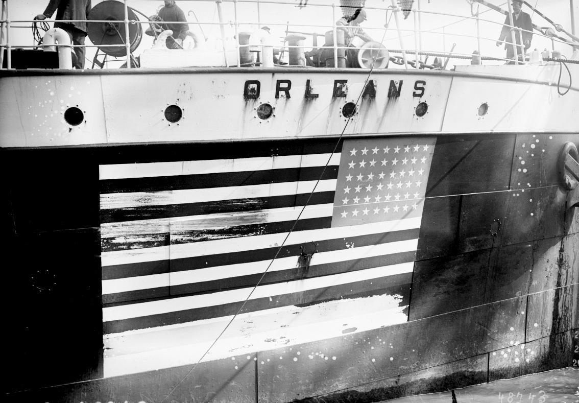 Le cargo américain l'Orléans arrive à Bordeaux