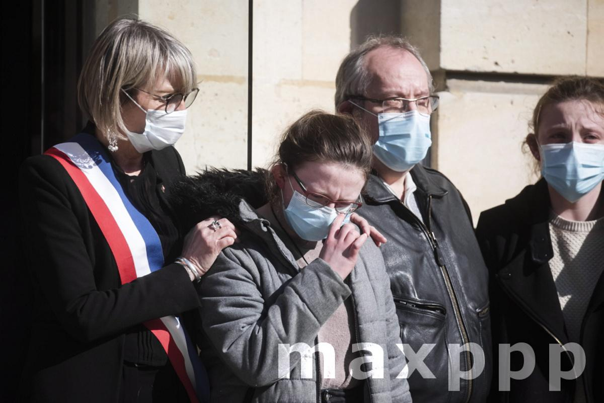 Ceremony in honor of the policewoman victim of a terrorist attack