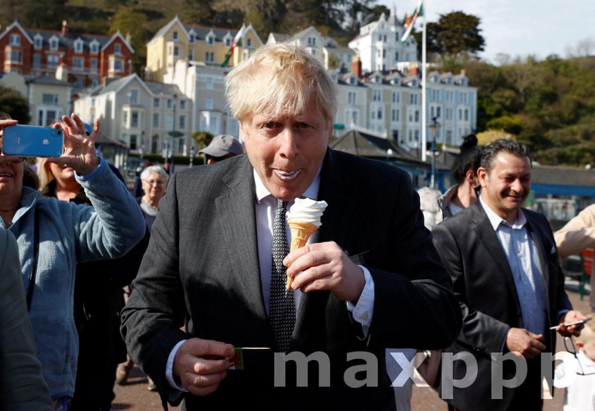 Britain's Prime Minister Boris Johnson visits North Wales