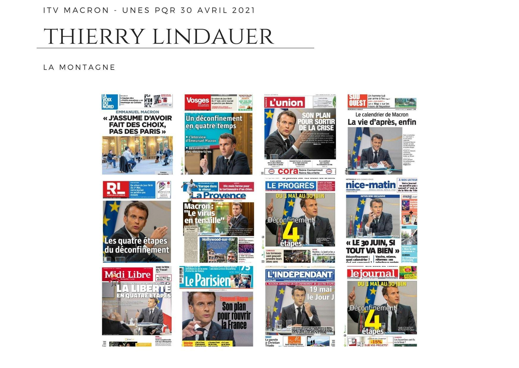 ITV Macron - Unes PQR - 30 avril 2021
