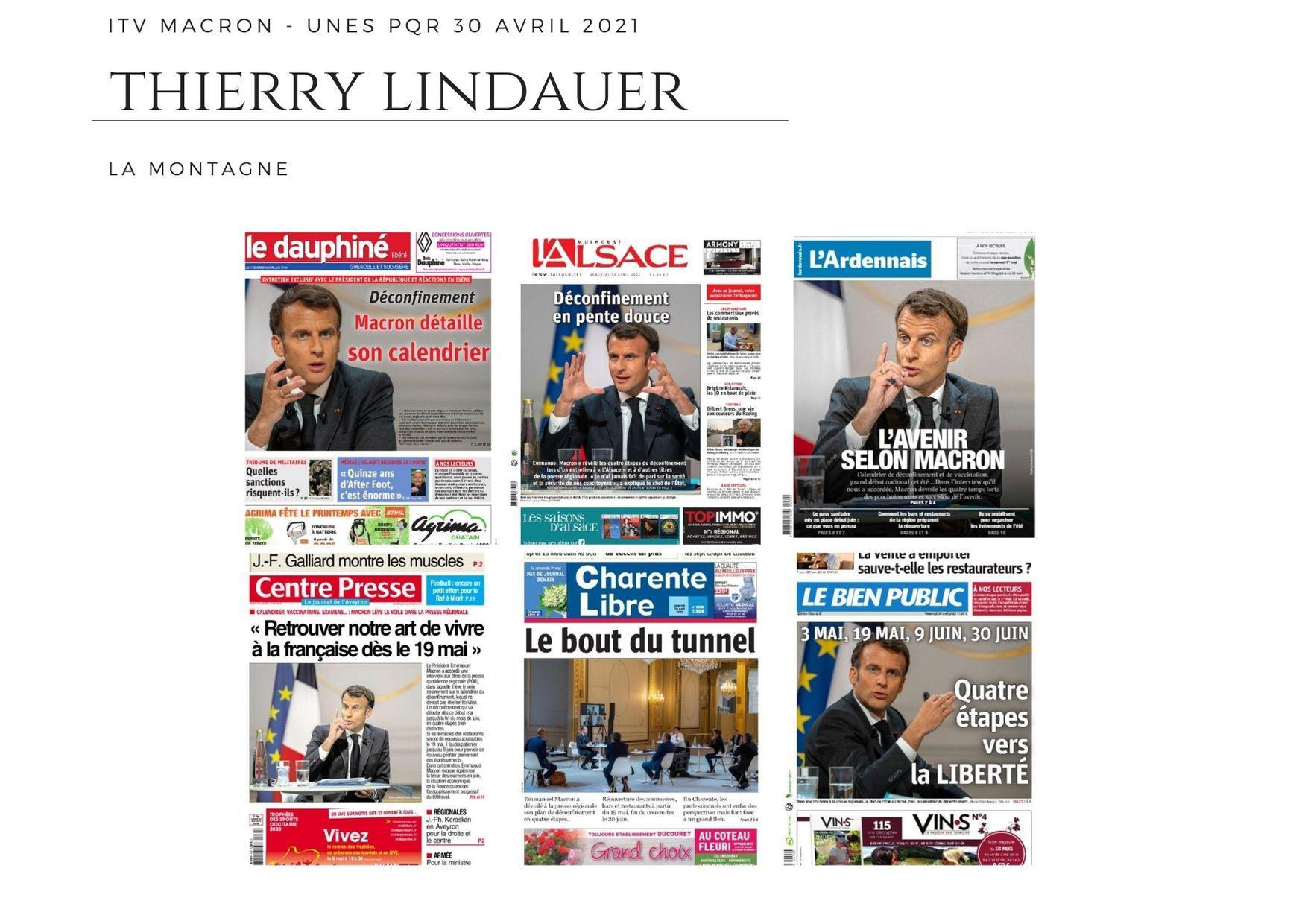 ITV Macron - Unes PQR  30 avril 2021
