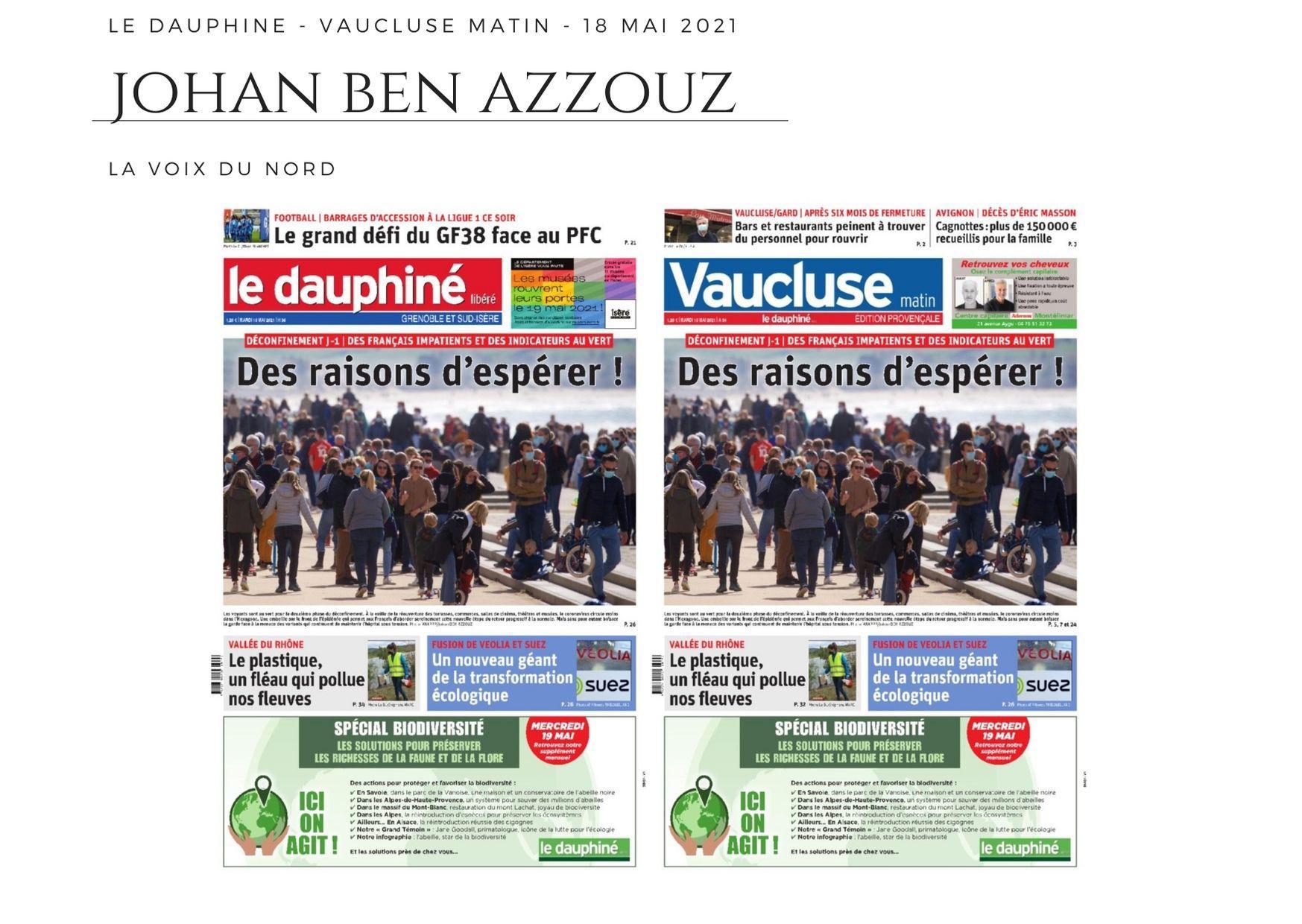 Le Dauphiné - Vaucluse Matin - 18 mai 2021
