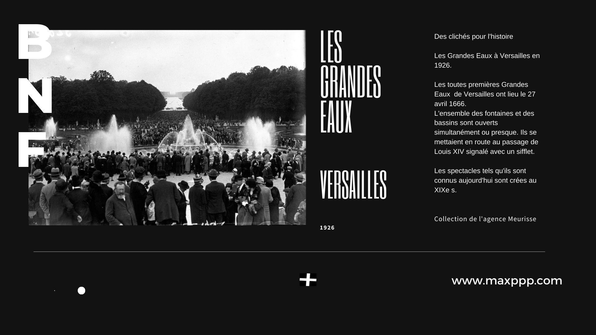 Les Grandes Eaux à Versailles en 1926